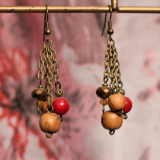 Honesty Bronze Dangle Earrings