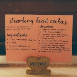 Heart-Shaped Recipe Card or Photo Holder
